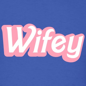 Wifey Wife woman in cute girly font T-Shirts - Men's T-Shirt