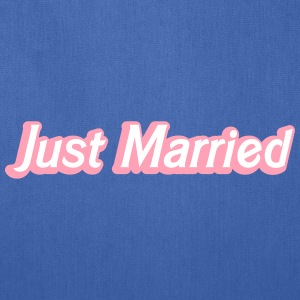 Just Married! cute recently married couples shirt Bags & backpacks - Tote Bag