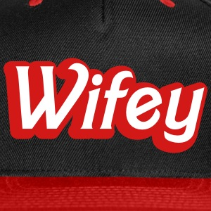Wifey Wife woman in cute girly font Caps - Snap-back Baseball Cap