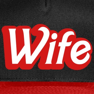 wife womanly ladies cute type Caps - Snap-back Baseball Cap