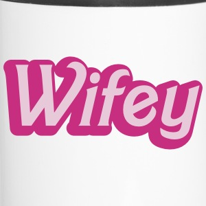 Wifey Wife woman in cute girly font Bottles & Mugs - Travel Mug
