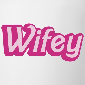 Wifey Wife woman in cute girly font Bottles & Mugs - Coffee/Tea Mug