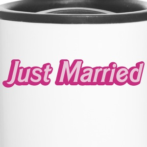 Just Married! cute recently married couples shirt Bottles & Mugs - Travel Mug