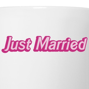 Just Married! cute recently married couples shirt Bottles & Mugs - Coffee/Tea Mug