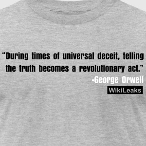 George Orwell Wikileaks T-Shirts - Men's T-Shirt by American Apparel