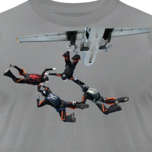 skydiving T-Shirts - Men's T-Shirt by American Apparel