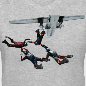 skydiving Women's T-Shirts - Women's V-Neck T-Shirt