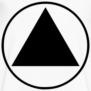 Equilateral Triangle T-Shirts - Men's V-Neck T-Shirt by Canvas