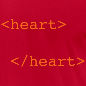 html heart T-Shirts - Men's T-Shirt by American Apparel
