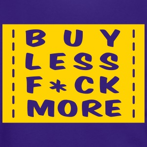 buy less fuck more 1 Zip Hoodies & Jackets - Unisex Fleece Zip Hoodie by American Apparel