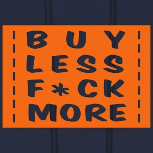 buy less fuck more 1 Hoodies - Men's Hoodie