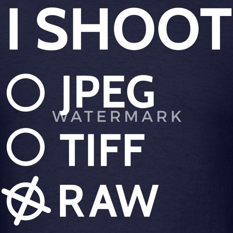 I shoot raw T-Shirts - Men's T-Shirt