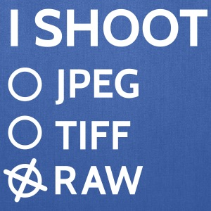I shoot raw Bags & backpacks - Tote Bag