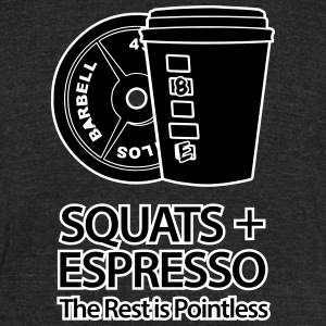 Squats and Espresso T-Shirts - Unisex Tri-Blend T-Shirt by American Apparel