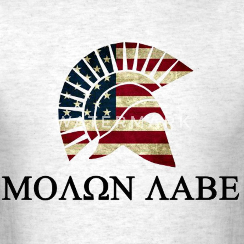 Molon Labe Red white and Blue T-Shirts - Men's T-Shirt