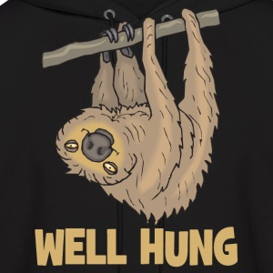 Well Hung Sloth T-shirt - Men's Hoodie
