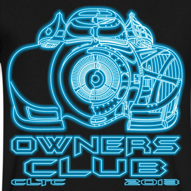 Neon Owners V-Neck Front Canvas