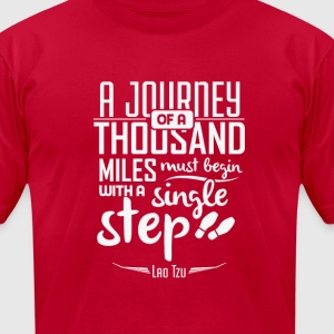 A journey of a thousand miles T-Shirts - Men's T-Shirt by American Apparel