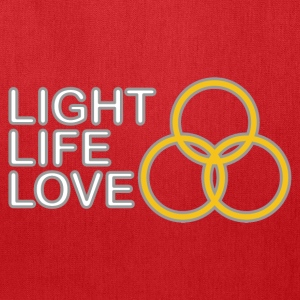 Light, Life, Love with Rings Bags & backpacks - Tote Bag