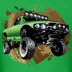 Mudding Green Race Truck T-Shirts - Men's T-Shirt