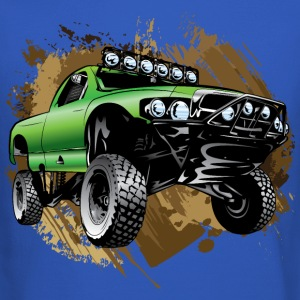 Mudding Green Race Truck Long Sleeve Shirts - Crewneck Sweatshirt