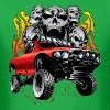 Off-Road Race Truck With Flaming Skulls T-Shirts - Men's T-Shirt