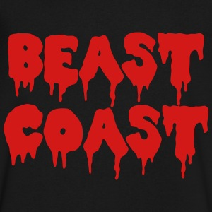 Beast Coast T-Shirts - Men's V-Neck T-Shirt by Canvas