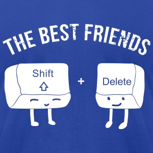 The Best Nerd Friends - Men's T-Shirt by American Apparel