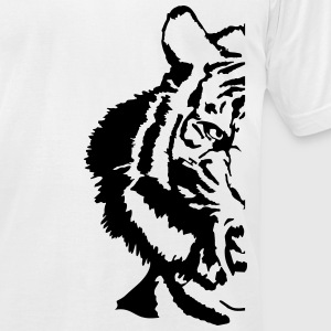 half tiger T-Shirts - Men's T-Shirt by American Apparel