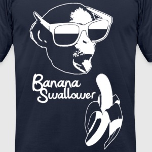 Banana Swallower - Men's T-Shirt by American Apparel
