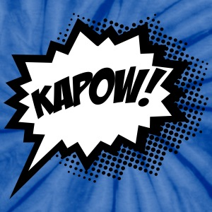 Comic KAPOW!, Super Hero, Cartoon, Bubble, Boom,  T-Shirts - Unisex Tie Dye T-Shirt