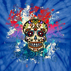 Mexican Sugar Skull, Flowers, Ornaments, Dead T-Shirts