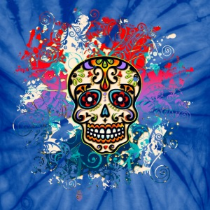 Mexican Sugar Skull, Flowers, Ornaments, Dead T-Shirts - Unisex Tie Dye T-Shirt