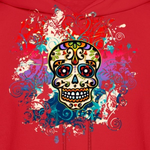 Mexican Sugar Skull, Flowers, Ornaments, Dead Hoodies - Men's Hoodie