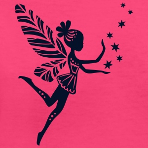 fairy, pixie, stars, magic, fantasy, summer,  Women's T-Shirts - Women's V-Neck T-Shirt