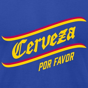 CERVEZA por favor, spanish, beer, please, drinking T-Shirts - Men's T-Shirt by American Apparel