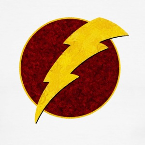 super, superhero, retro, lightning, bolt,  - Men's Ringer T-Shirt