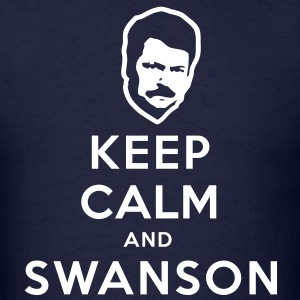 Keep Calm and Swanson Men's Humor T-Shirts - Men's T-Shirt