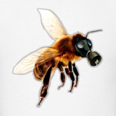 Bee With Gas Mask T-Shirts