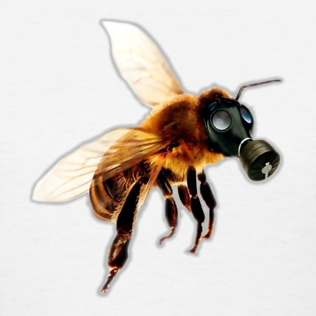 Bee With Gas Mask