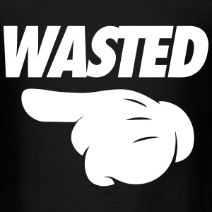 Wasted Pointing Left T-Shirts - Men's T-Shirt
