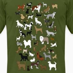 many dogs pixel T-Shirts