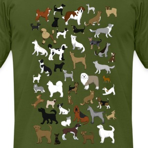 many dogs pixel T-Shirts - Men's T-Shirt by American Apparel