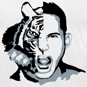hybrid tiger man T-Shirts - Men's T-Shirt by American Apparel