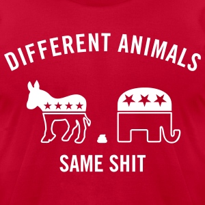 Different Animals Men's Humor T-Shirts - Men's T-Shirt by American Apparel