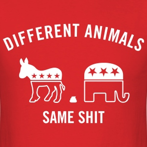 Different Animals Men's Humor T-Shirts - Men's T-Shirt