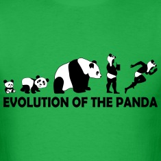 EVOLUTION OF THE PANDA - Mud Runner T-Shirts