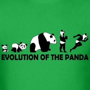 EVOLUTION OF THE PANDA - Mud Runner T-Shirts - Men's T-Shirt
