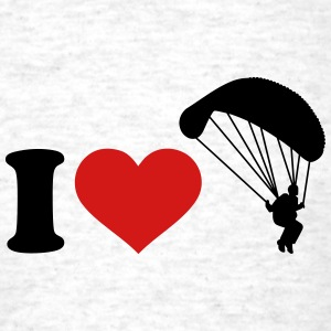 I love Parachute jumping T-Shirts - Men's T-Shirt