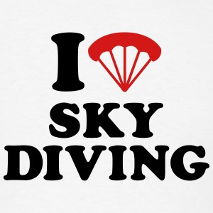 I love Skydiving T-Shirts - Men's T-Shirt